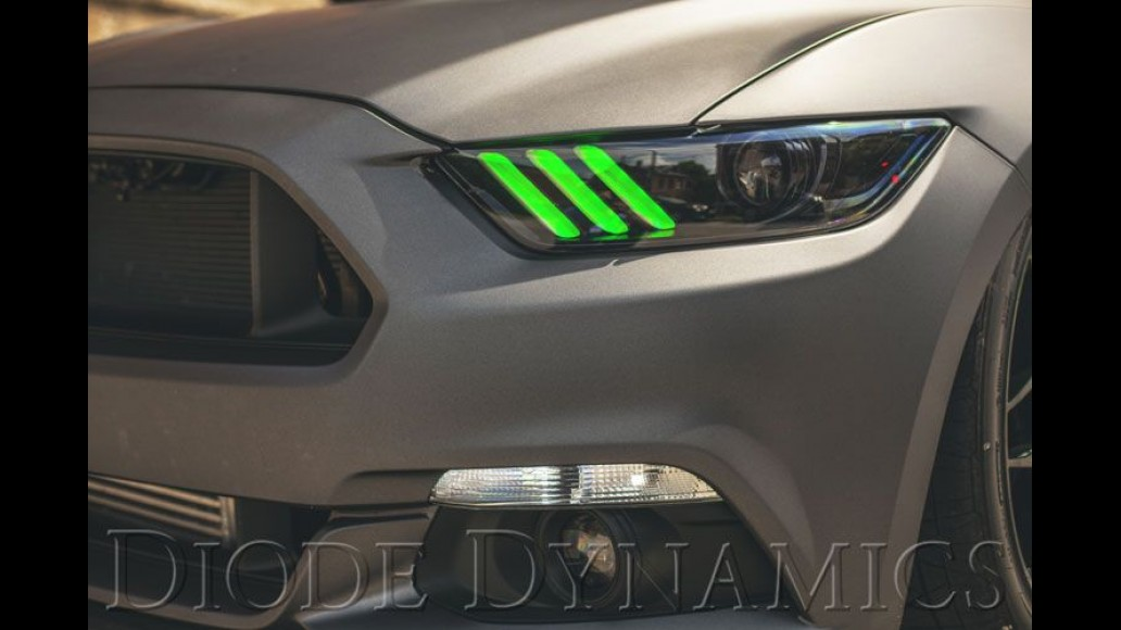 Ford Mustang (2015-2017) EU-AU Multicolor DRL LED boards with RGBW controller