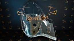 Porsche Carrera auto labais luktura stikls