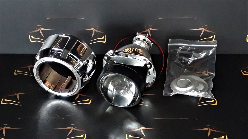 Projector lens with bi-xenon function for halogen H1