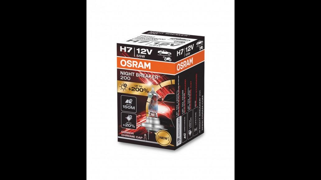 OSRAM H7 12V 55W PX26d NIGHT BREAKER® LASER +200%  1 Шт. Лампа Галогена