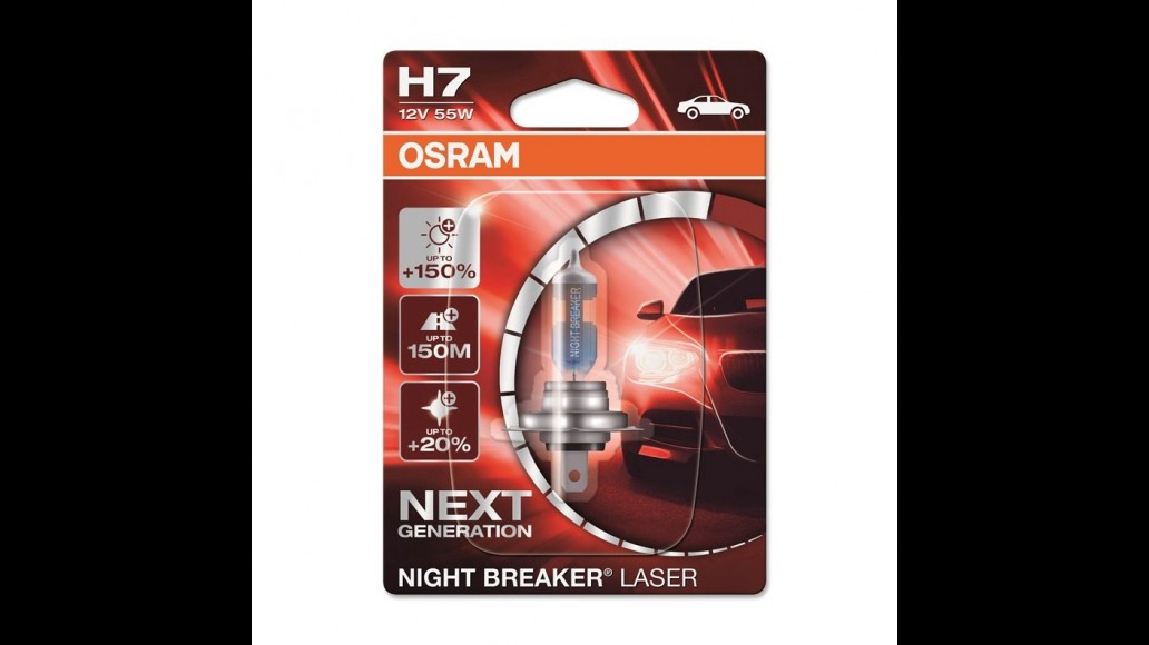 OSRAM OSRAM XENARC® NIGHT BREAKER® LASER +150% H7 55W halogen light bulb