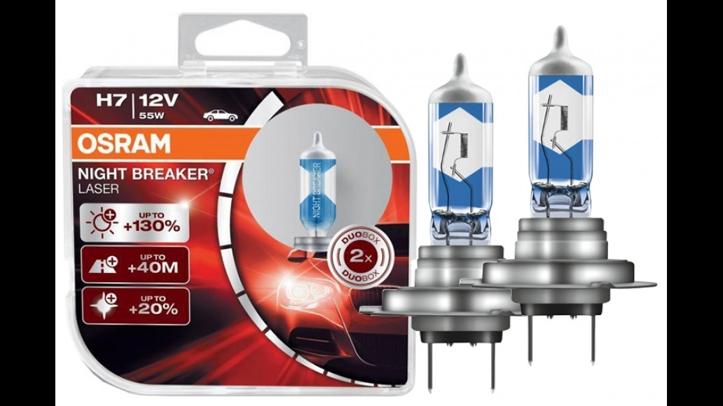 OSRAM OSRAM XENARC® NIGHT BREAKER® LASER +130% H7 55W комплект ламп галогена