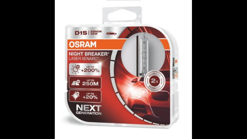 OSRAM XENARC® NIGHT BREAKER® LASER +200% PK32d-2 D1S 35W xenon light bulbs