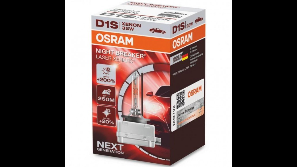 OSRAM XENARC® NIGHT BREAKER® LASER +200% PK32d-2 D1S 35W ксеноновая лампа